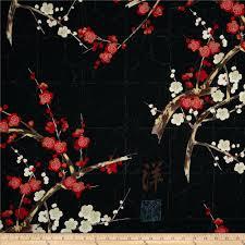 indochine golden garden metallic black discount designer fabric