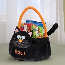 personalized black cat trick or treat bag treat bag miles kimball