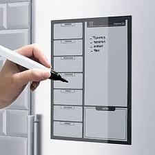 magnetic a5 drywipe white fridge memo board ebay