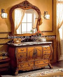 elegant solid wood carved bathroom cabinet victoria style wooden