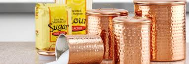 copper canisters kitchen kitchen canisters for less overstock