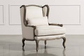 French Script Armchair Accent Chairs With Arms U0026 Armless Living Spaces