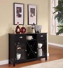 wine rack bar cabinet rustic grey buffet serving sideboard