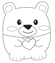 teddy bear coloring stock illustration image 52087027