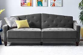 Futon Sleeper Sofa Novogratz Vintage Tufted Sofa Sleeper With Mid