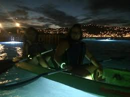 Kayak Night Lights See The Bright Lights On The Kayak And The Pretty Lights In The