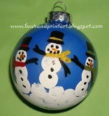 fingerprint snowman family keepsake ornament tutorial snowman