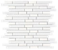 linear glass marble mosaic tile white mineral tiles