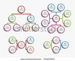 colorful organization chart download free vector art stock