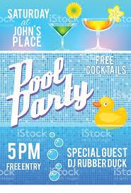 pool party invitation template stock vector art 467423034 istock