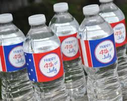 4th Of July Party Decorations 4th Of July Water Bottle Labels July 4th Decor