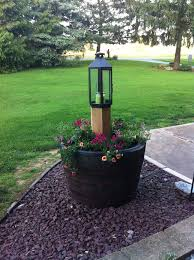 Half Barrel Planters by 52 Best Whiskey Barrel Ideas Images On Pinterest Whiskey Barrel