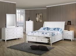 Beachy Bed Sets Coaster 400239t S4 Selena White 4 Pcs Storage Bedroom Set