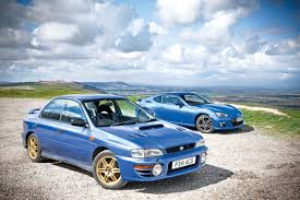 classic subaru subaru brz vs subaru impreza 2000 turbo evo
