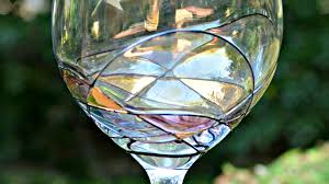 beautiful hand painted wine glasses three different directions