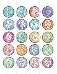 damask images flower circles hindu ornaments digital