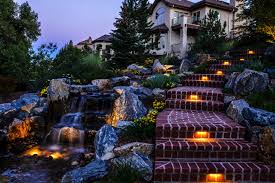 Outdoor Water Features With Lights by Denver Outdoor Lighting Landscape Connection