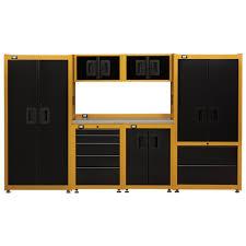 Yellow Storage Cabinet 15 Foot Garage Storage Organization Set Cat Tool Storage