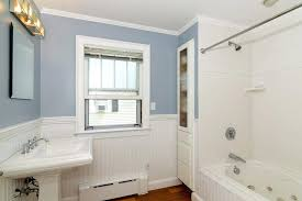 bathroom chair rail ideas bathroom chair rail ideas classics powder room transitional with