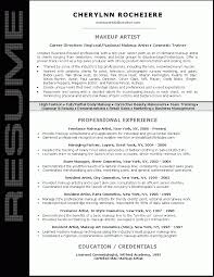 Makeup Artistry Certification Artist Resume Sample Resume Sample For Makeup Artist Resume Sample