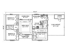 one floor house plans pleasurable 13 one story house plans with carport 3 bedroom 2 bath