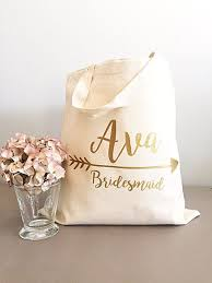bridesmaids gift bags bridesmaid gift tote gold arrow tote bags tribe canvas