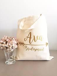 bridesmaid gift bag bridesmaid gift tote gold arrow tote bags tribe canvas
