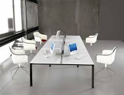 Office Furniture Table Meeting White Office Furniture For Clean And Modern Atmosphere Office