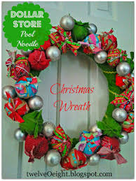 dollar store christmas crafts pool noodle christmas wreath