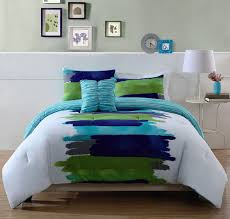 Light Blue Twin Comforter Turquoise Blue U0026 Lime Green Teen Bedding King Comforter Set Modern