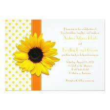 sunflower wedding invitations polka dot sunflower wedding invitation wedding invitations