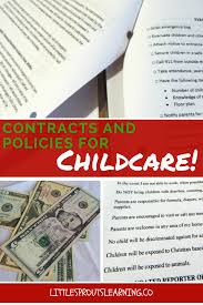contracts and policies for childcare little sprouts learning