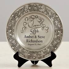 anniversary plates 50th anniversary anniversary pewter plate