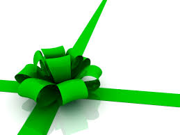 gift wrap bows green ribbon tie in a bow