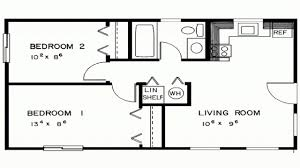 Floor Plans For A 2 Bedroom House Bedroom House Simple Plan Two Bedroom House Plans Designs 2