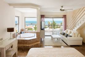 roof terrace at the two story beachfront casita suite at the