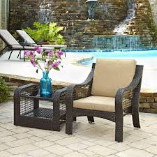 Outdoor Coffee Table Set Home Styles Lanai Breeze Deep Brown 2 Piece Woven Patio Accent
