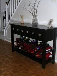 sofa table with wine rack sofa table with wine rack foter