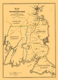 Boston County Map by Old Railroad Map Old Colony Railroad 1850
