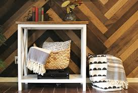 Accent Walls In Living Room by To Install A Barn Wood Accent Wall In Herringbone Pattern