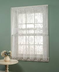 essential home coraline lace window tier curtain shop your way