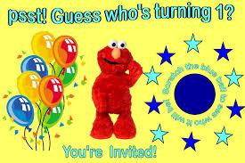 mesmerizing elmo first birthday party invitations birthday party