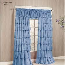 gypsy sheer voile ruffled window treatment