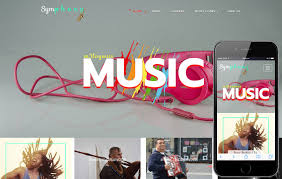 music band a entertainment category flat bootstrap responsive web