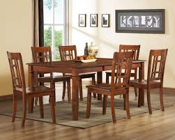 cherry kitchen table set traditional arts kitchen dinette decor with 7 pieces low cost dining
