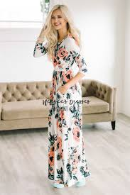 white floral maxi modest dress best and affordable modest