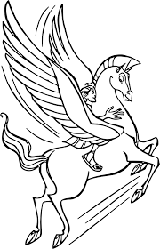 hercules and pegasus flying coloring pages wecoloringpage