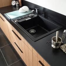 evier cuisine granit noir évier granit à encastrer noir alios castorama evier