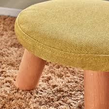 Beech Ottoman Upholstered Ottoman Padded Foot Stool With 3 Beech Legs And