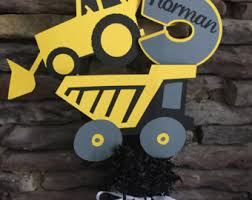Construction Party Centerpieces by Dump Truck Party Etsy